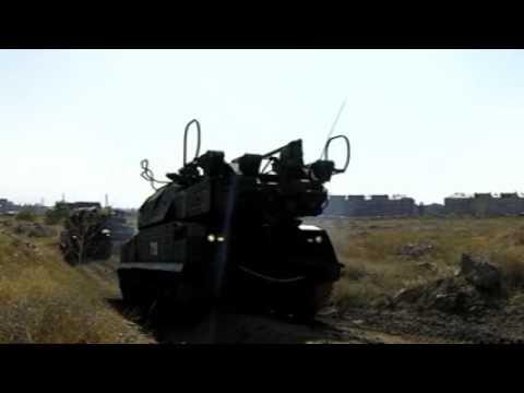 Военные учения  102 Военной Российской Базы