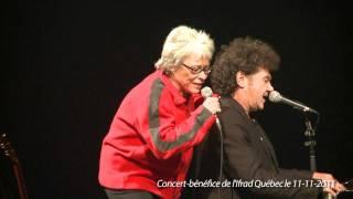 Robert Charlebois et Louise Forestier chantent Lindberg lors du con...