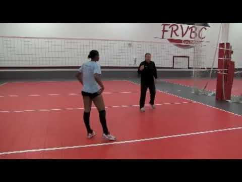 Jim Stone Shows Proper Middle Blocker Transition Footwork