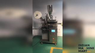 Single Chamber Tea Bag Machine with String and Tag - Indian Machine Mart