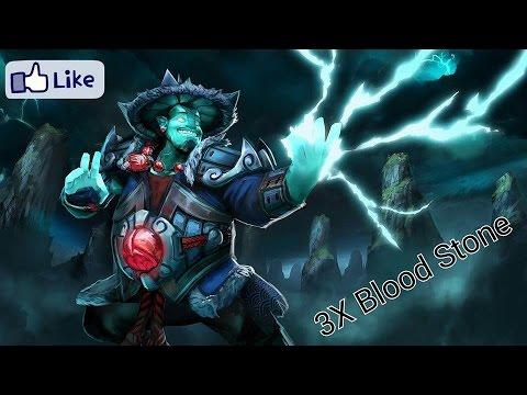 Dota 2 Storm Spirit 3x BloodStones %100 Mana