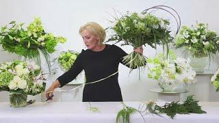 Мастер-класс Марины Петровой: спиральная техника на примере белых букетов