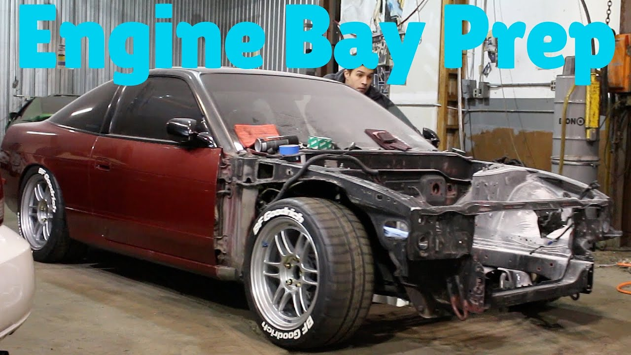 S13 Engine Bay Diagram Worksheet And Wiring Sc300 Painting 240sx Part 1 Prep Clean Youtube Rh Com