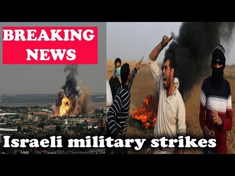 Israeli military strikes Gaza Strip after rocket fire || World News Radio