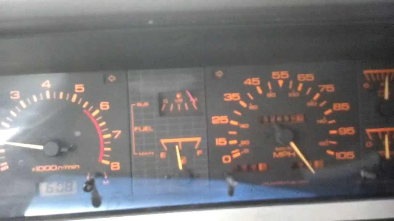 Nissan Hardbody D21 Speedometer Oddities