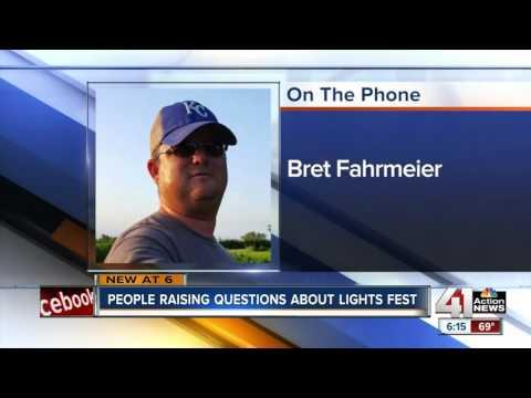People raising questions about light fest