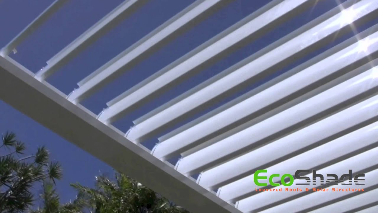 EcoShade Opening/Closing Louvered Roof   YouTube