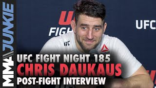Chris Daukaus refuses to take 'any steps back' after TKO win | UFC Fight Night 185