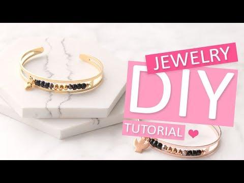 DIY Tutorial – Armbänder aus DQ Metall mit Perlen – Selbst Schmuck machen