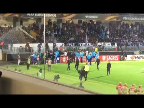 Patrice Evra Fly Kicks Marseille fan (Fan view) Cantona esque