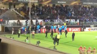 Patrice Evra Fly Kicks Marseille fan (Fan view) Cantona esque