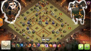 Clash of Clans - Th10 v Th10 - SuiLaLo Lava Loons FAIL AND CLEAN 3 Star Attack War
