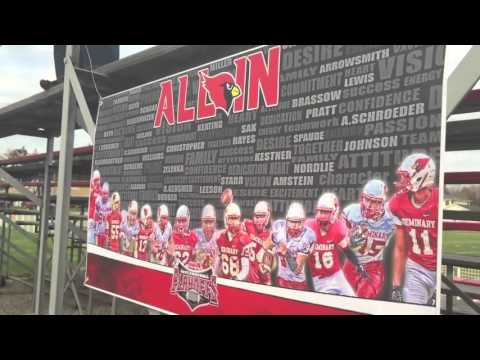 Michigan Lutheran Seminary Football Playoffs 2015 vs All Saints
