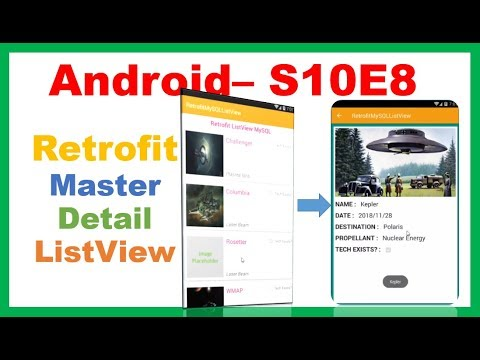 Android MySQL → Android Retrofit ListView Tutorial and