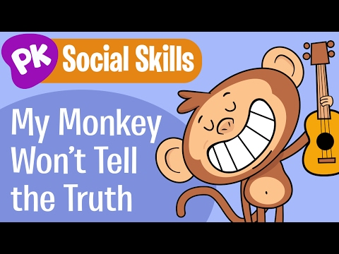 My Monkey Wont Tell the Truth! Social Skills songs for kids, learning songs for kids from PlayKids
