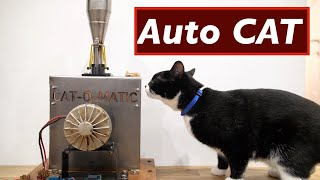 CAT-O-MATIC auto cat feeder/terrifier YTMakers Secret Santa