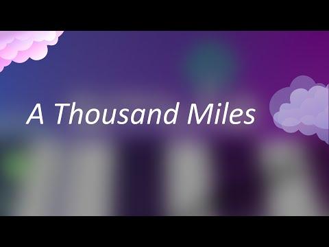 Vanessa Carlt  A Thousand Miles Magic Piano  Smule