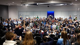 Penn State football hosts Thon families at Lasch Building