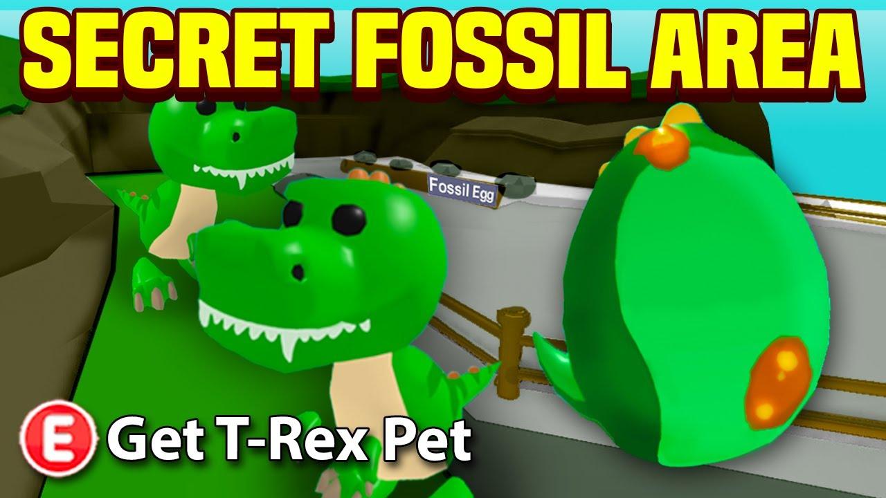 New Adopt Me Secret Fossil Area Adopt Me Fossil Egg Update Leaks Tea Youtube