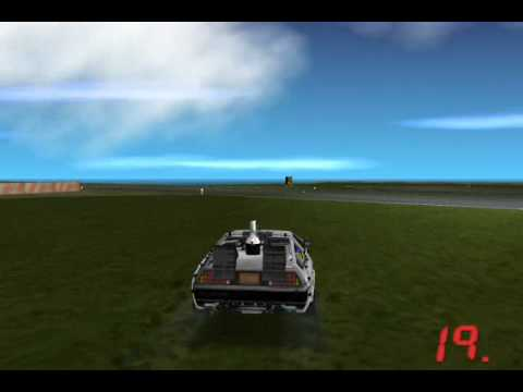 GTA Hill Valley: Train pushing Delorean #3