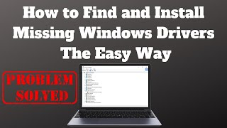 how to Find and Install Drivers for Unknown Devices Using Hardware ID