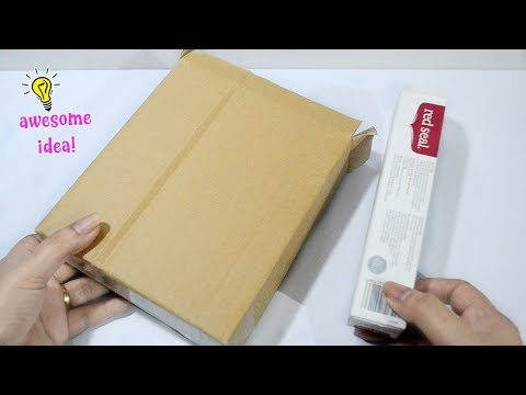 USEFUL AND EASY CARDBOARD AND TOOTHPASTE BOX IDEA! Best Reuse idea