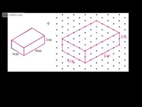 GCSE Maths Drawing 3D Shapes Using Isometric Paper Foundation
