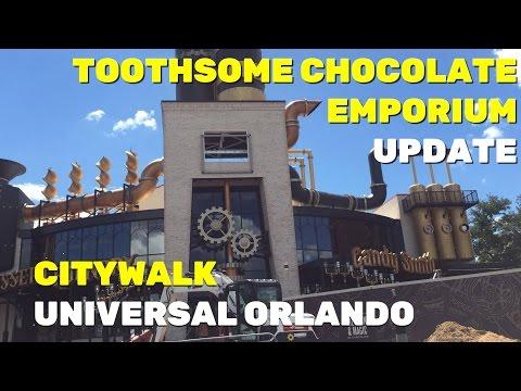 Toothsome Chocolate Emporium construction update at Universal Orlando Resort (7-25-16)