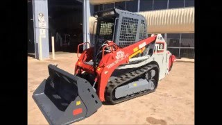 Takeuchi TL8 Rubber Tracked Loader with rear Rippers Tilting 4 in 1 Bucket