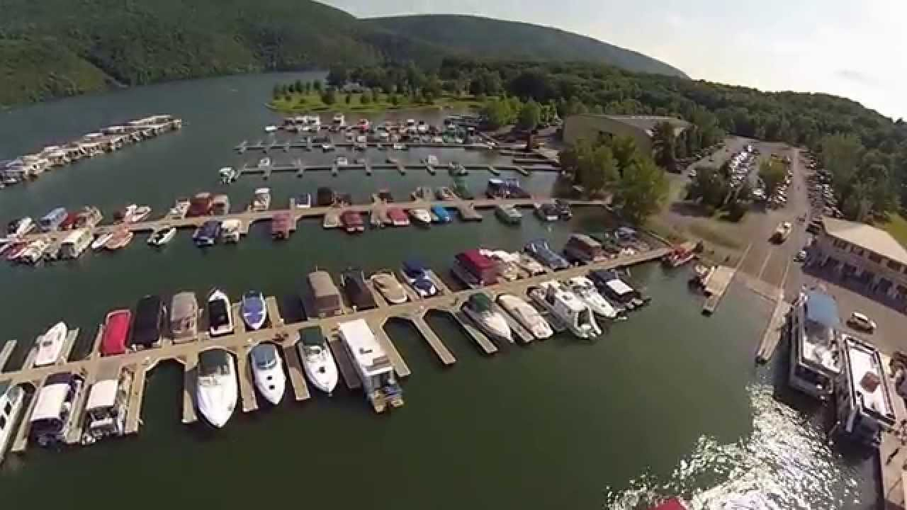 Flight Over Lake Raystown Resort And Seven Points Marina Take 2