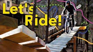 I Built an Entire Bike Park in my Backyard... Lets Ride It!
