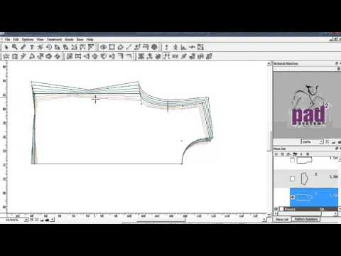 Cad Pattern Grading Software Youtube