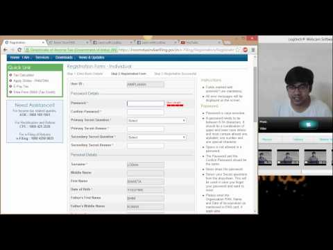 1(Registration) How to register on Income tax website for efiling