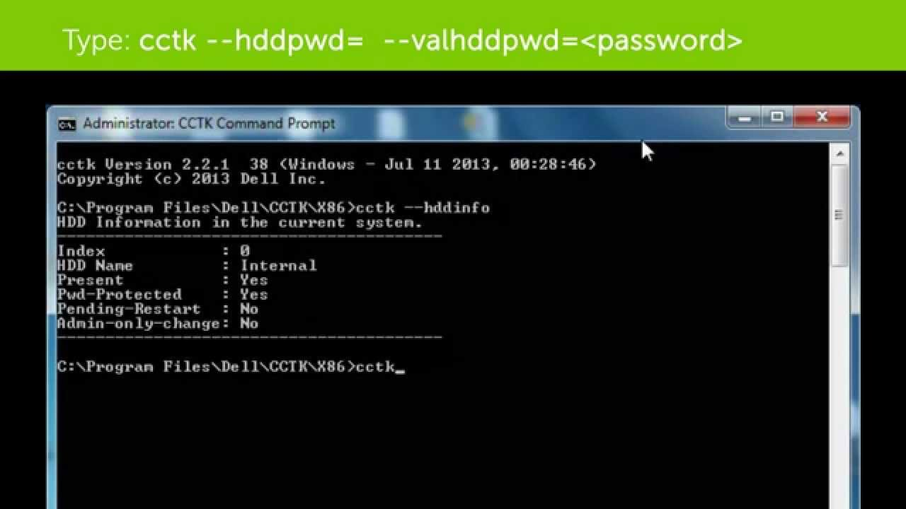 Method For Clearing Hdd Password On Dell Business Client