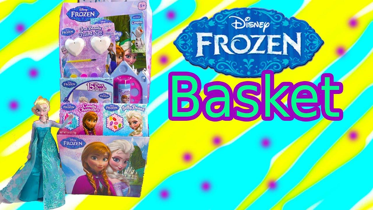 Queen Elsa Disney Frozen EASTER BASKET Box Princess Anna Toy Unboxing  Review Video