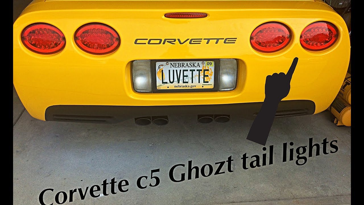 Corvette sequential Halo LED c5 tail lights w/ ghotz sequencer