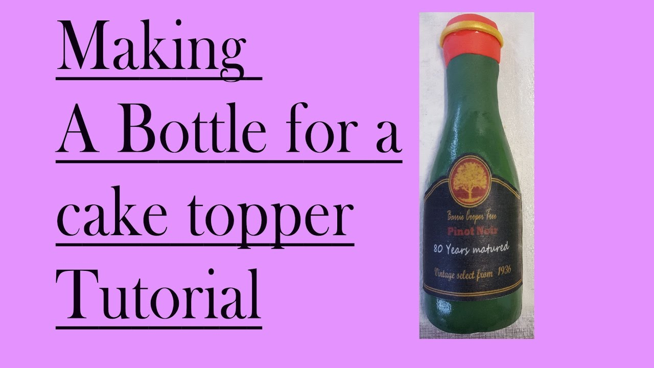 How To Make A Wine Bottle Cake
