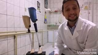Joelho perna do abaixo amputação da