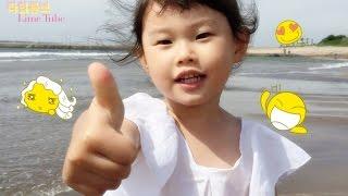 제주도 이호테우 바다 모래 물 놀이 Korea Jeju Island Beach Swimming Play おもちゃ đồ chơi 뽀로로 Pororo 라임튜브