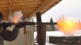 Target practice with the Investarm Hawken flintlock rifle