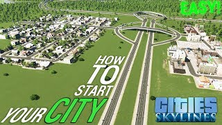 How to START your CITY! - Easy Road Layout/Tutorial [ENGLISH/GERMAN] | Cities: Skylines