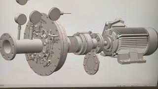 熱水と蒸気が混ざった二相流を使用出来るトータルフロータービン発電機の説明です。