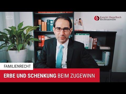Erbschaften und Schenkungen im Zugewinnausgleich – Kanzlei Hasselbach