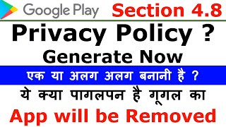 Google Play policy violation warning | App Privacy Policy Generator | Distribution Agreement Mp3