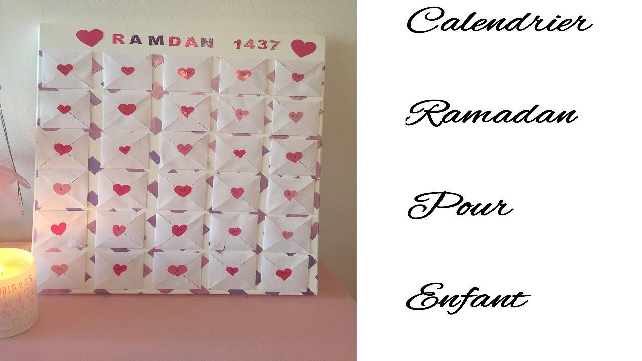 diy calendrier ramadan pour enfant youtube. Black Bedroom Furniture Sets. Home Design Ideas