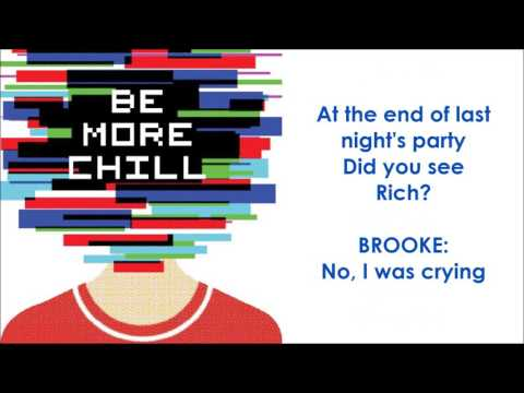 The Smartphone Hour (Rich Set A Fire) - BE MORE CHILL (LYRICS)