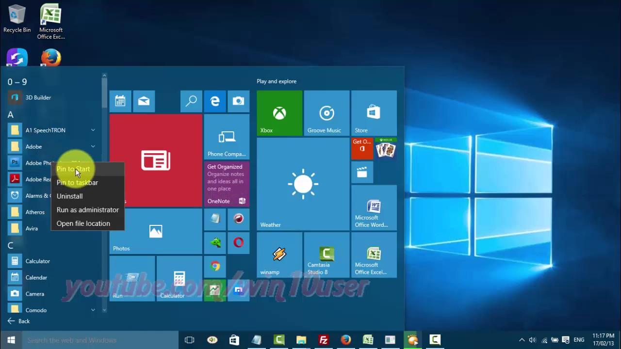 Windows 10 : How to pin or unpin app to taskbar