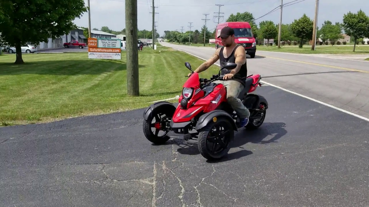 200cc Tryker Trike Scooter Gas Moped Fully Automatic with Reverse - JassCol  200 Trike