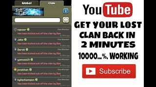 How to get lost clan back || Recover your lost village in clash of clans or coc