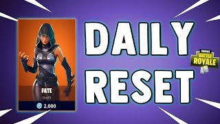 NEW FATE SKIN - Fortnite Daily Reset & NEW Items in Item Shop